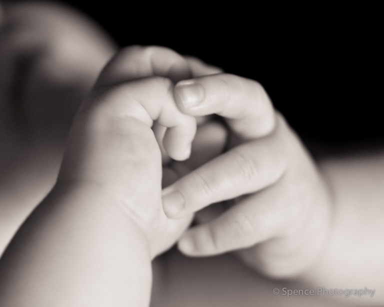 Baby photography — Ryan's hands